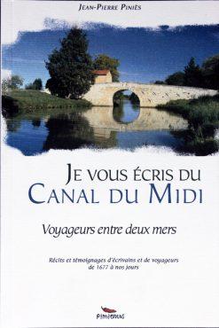 Couverture livre Je vous écris du Canal du Midi